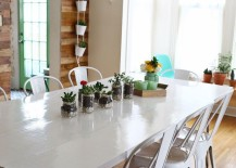 Painted dining room table from A Beautiful Mess