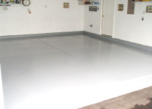 Painted garage floor 217x155 Garage Floor Paint Options