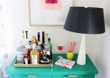Painted green table from Coco + Kelley