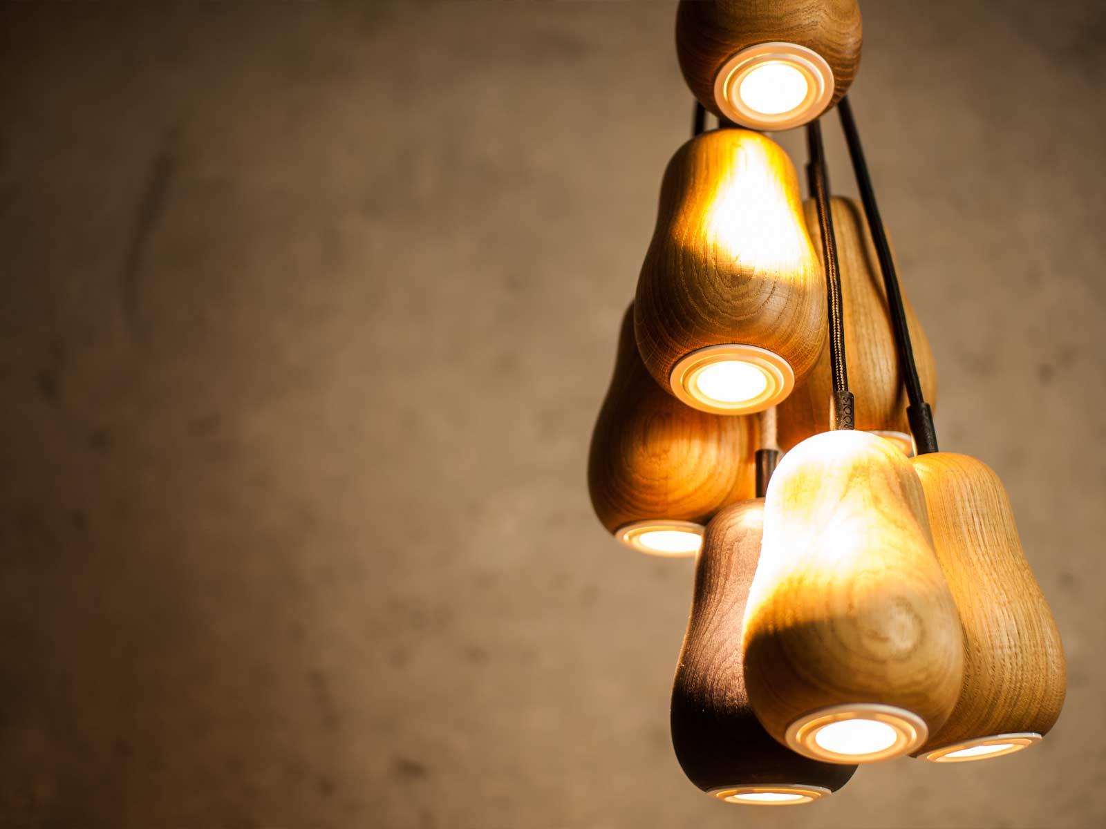 Pendant Lamp Babula S7 in oak
