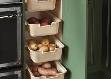 Perfect corner shelf idea for the traditional kitchen