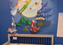 Peter Pan wall mural for contemporary nusery