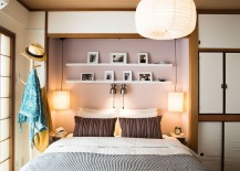 Picture ledge and smart lighting for the small bedroom