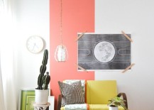 Pink rectangular shape painted on one area of wall 217x155 22 Clever Color Blocking Paint Ideas to Make Your Walls Pop