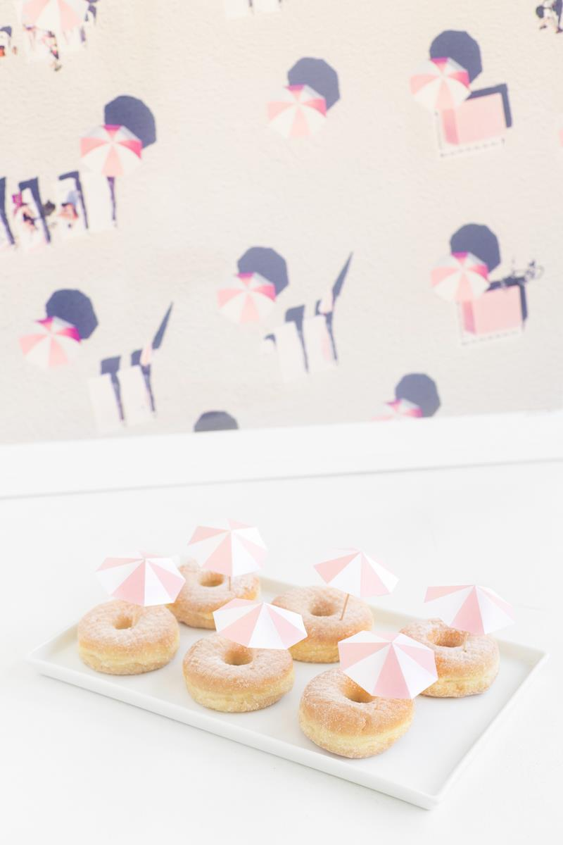 Pink umbrella donuts from Studio DIY