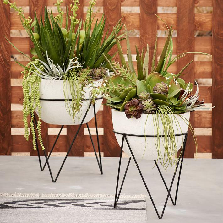 plant stand style with a modern twist. Black Bedroom Furniture Sets. Home Design Ideas