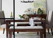 Plants add charm to the dining room