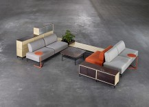 Platform range of  contemporary furnishings for the sleek office by Tengbom