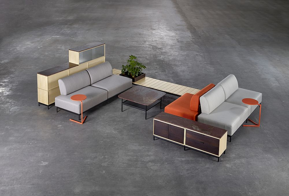 Platform range of  contemporary furnishings for the sleek office