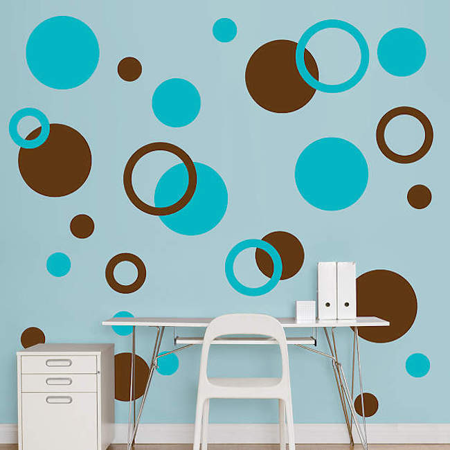 view in gallery polka dot wall decals in different shapes and colors - Simple Shapes Wall Design