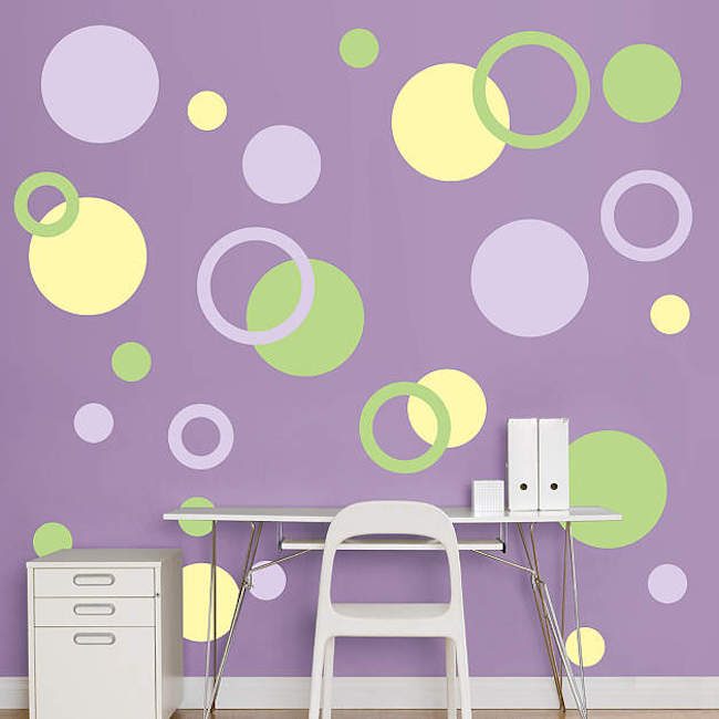 ... Polka dot wall decals in more colors  sc 1 st  Decoist & 8 Fun and Easy Ways to Use Polka Dot Wall Decals