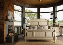 Porch bedroom with innovative lighting options
