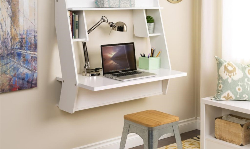 8 Wall-Mounted Desks That Save Room in Small Spaces