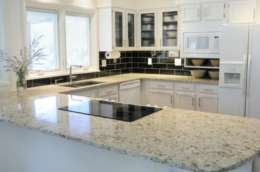 View In Gallery Quartz With The Appearance Of White Ice Granite