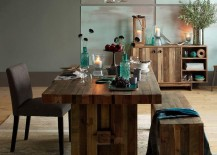 Reclaimed wood dining table from West Elm 217x155 Dining Room Decor Ideas That Make a Statement