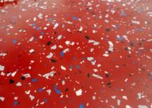 Red epoxy garage floor