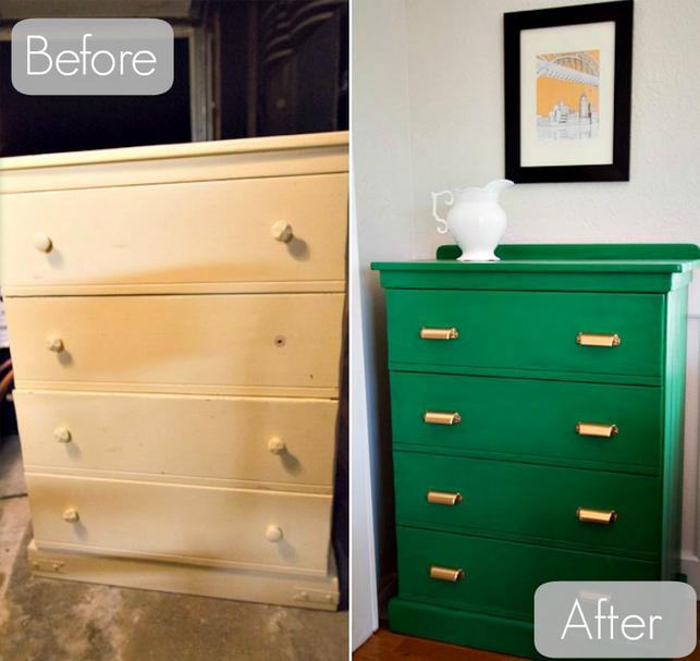 Unconventional color choices are on when restoring furniture