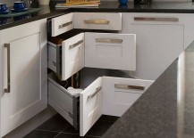 There are plenty of ways in which you can put that kitchen corner space to  use. But few additions deliver as well as corner drawers both in terms of  style ...
