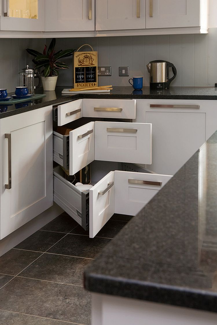 Kitchen Drawers 30 corner drawers and storage solutions for the modern kitchen