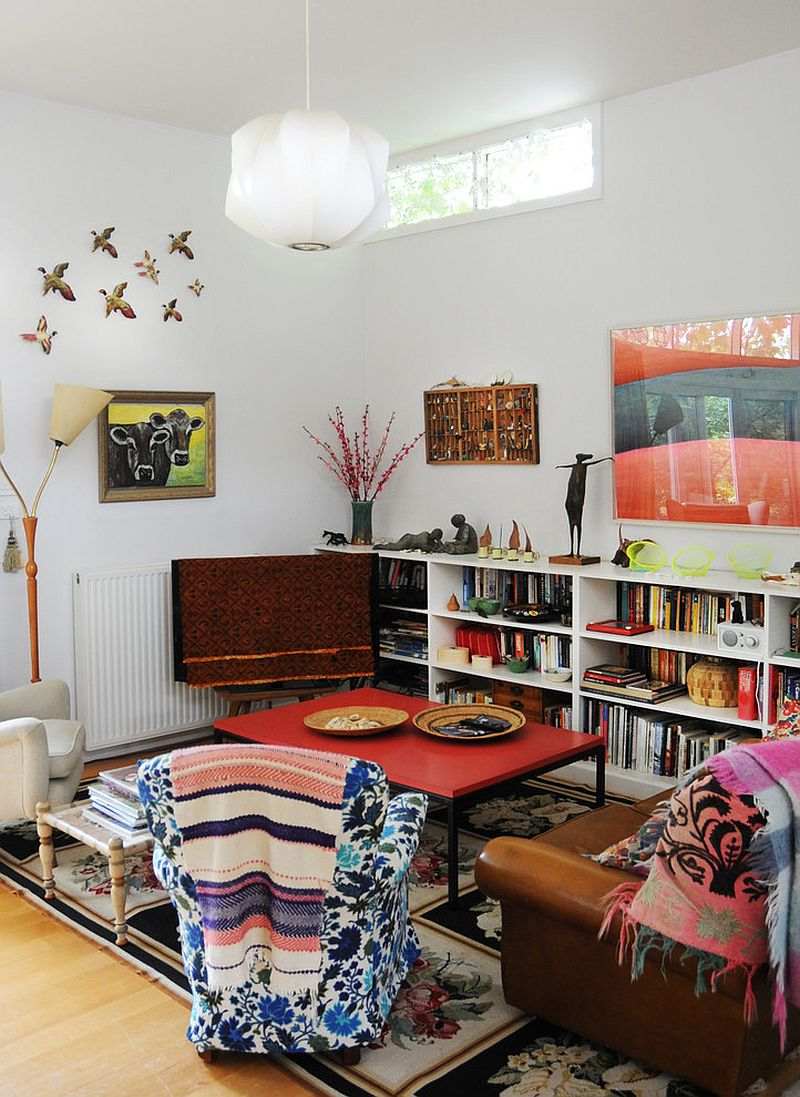 Warm, Eclectic One Bedroom | A Cup of Jo |Eclectic Room Design