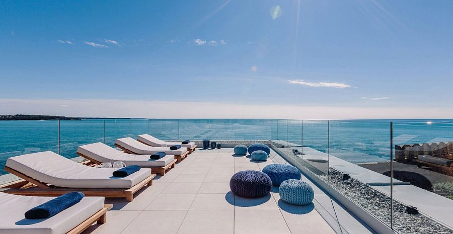 Rooftop terrace with spectacular view of the Adriatic sea