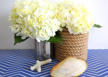 Rope Wrapped Vases DIY Nautical