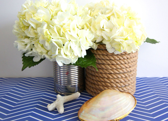 How to Make DIY Rope-Wrapped Vases with Nautical Flair