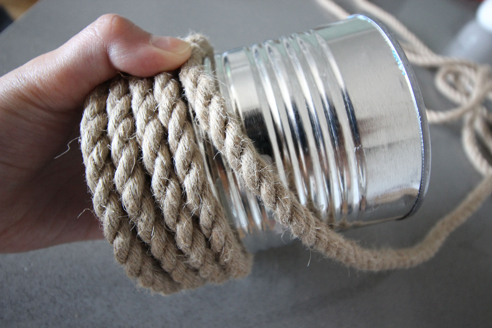 Rope Wrapped Vases DIY Wrapping Can with Rope