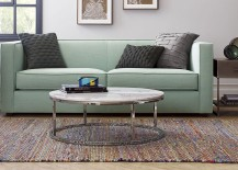 Round marble-top coffee table from CB2