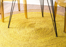 Round yellow nuLOOM rug from Overstock