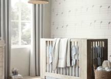 Rustic modern crib from Restoration Hardware