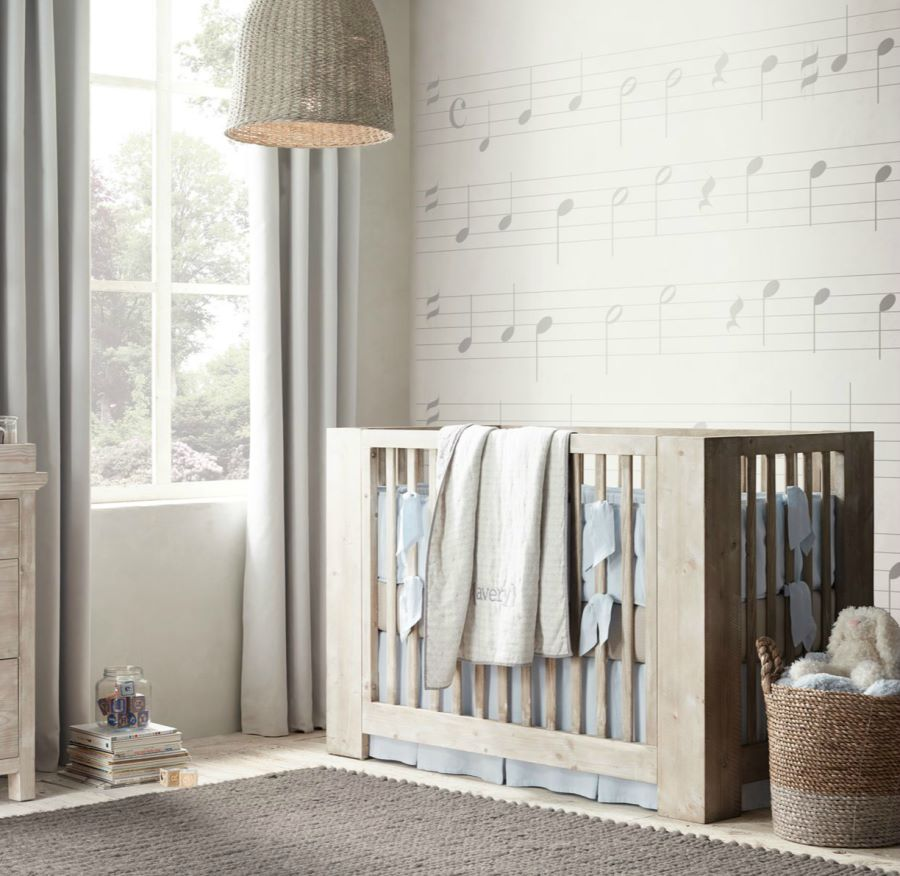 View In Gallery Rustic Modern Crib From Restoration Hardware