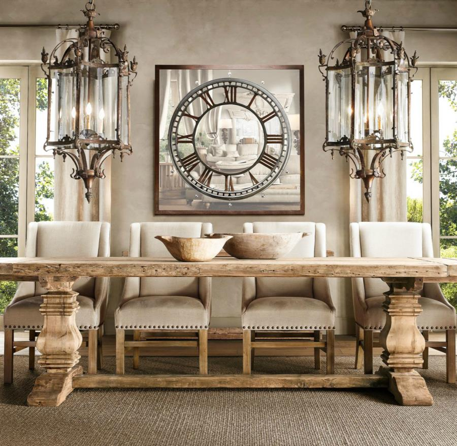 View in gallery Salvaged wood trestle table from Restoration Hardware. 17 Elegant Classic Trestle Tables
