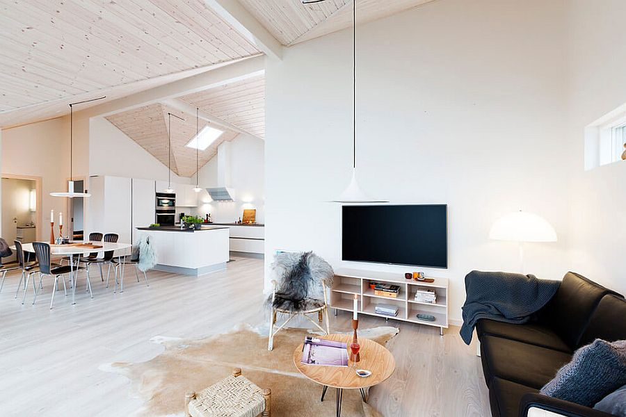 Scandinavian inspired interior has an inviting ambiance