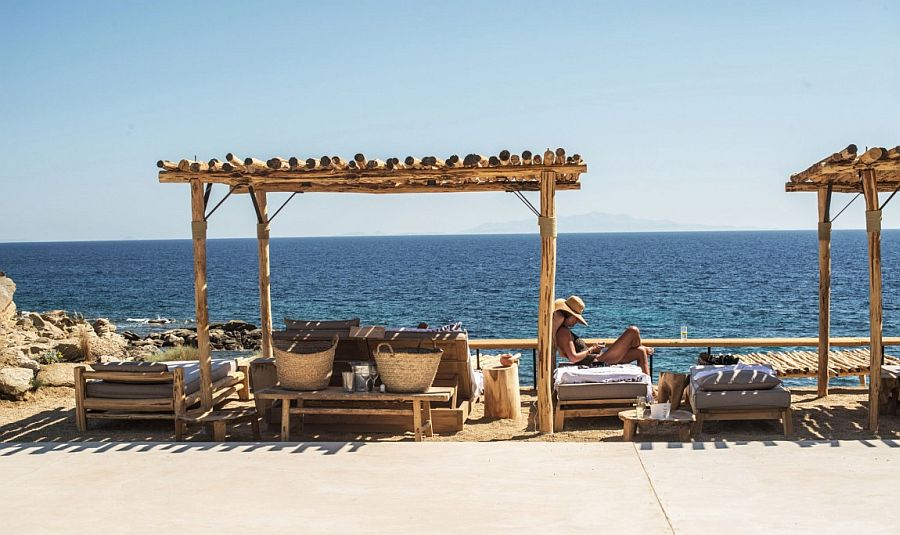 Scorpios sits proudly on the southern part of fabulous Greek island Mykonos