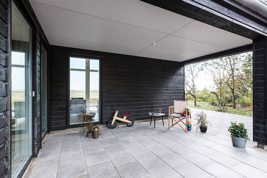 Sheltered outdoor space of the summer home