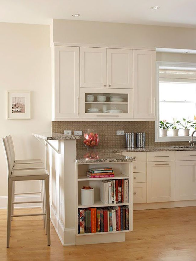15 unique kitchen ideas for storing cookbooks - Small kitchen no counter space model ...