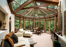 Showstopping sunroom design with Asian design influences