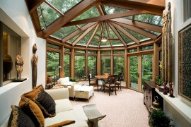 Showstopping sunroom design with Asian design influences  50 Bright and Beautiful Contemporary Sunrooms Showstopping sunroom design with Asian design influences 270x180