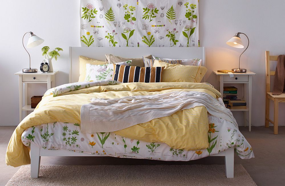 Simple way to siwtch the look of your bedroom with bedside tables and bedding