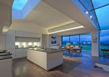Skylights and glass walls usher in natural light