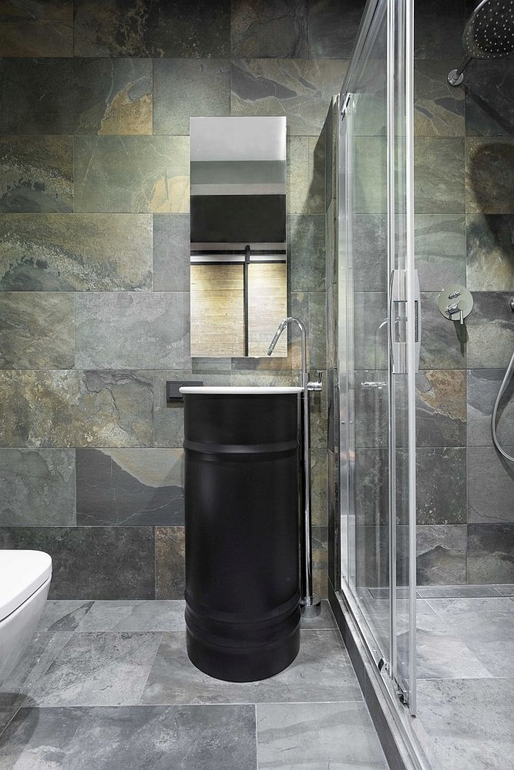 Sleek and stunning contemporary bathroom design in stone