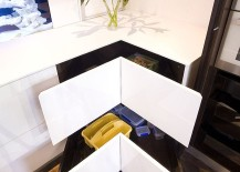 Sleek contemporary take on the classy corner drawers