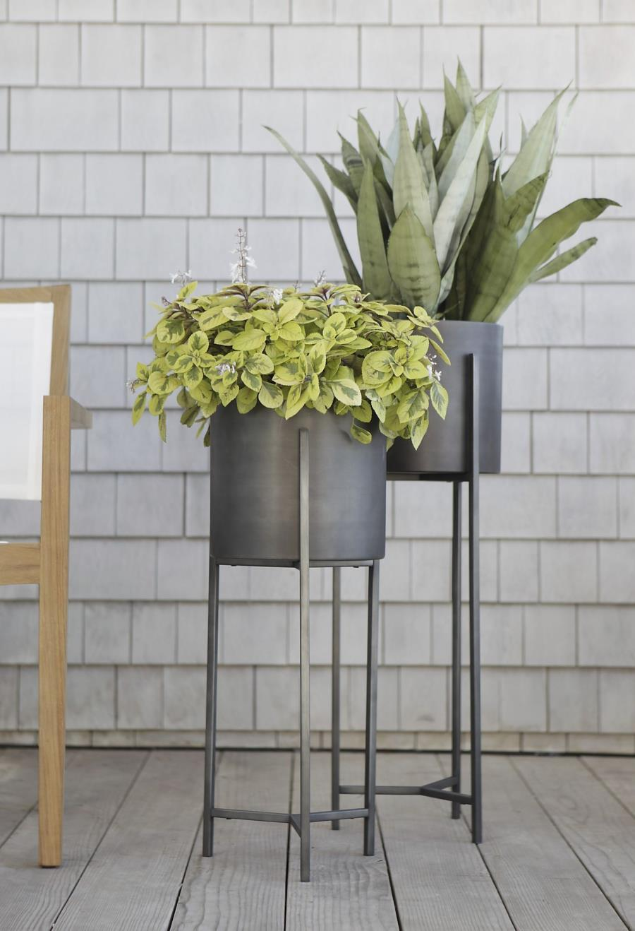 Sleek modern planters from Crate & Barrel