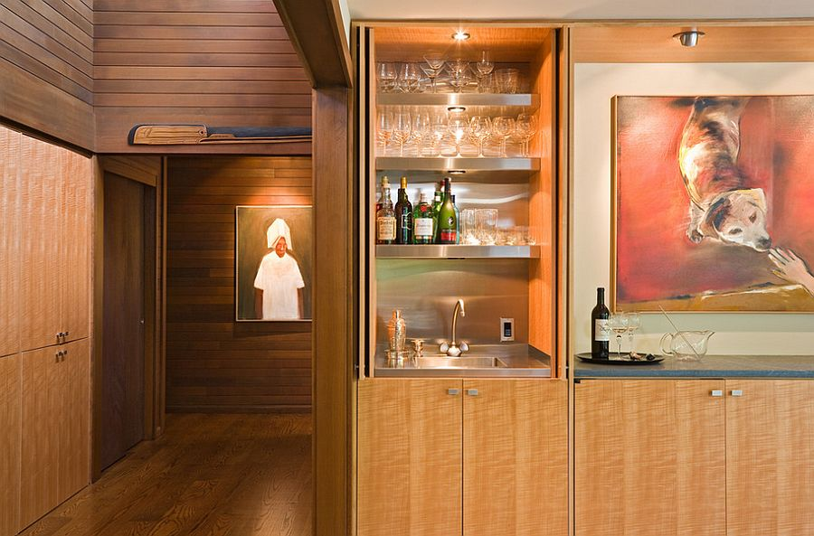 Small Bar Design For The Modern Dining Room Design Lane Williams Architects