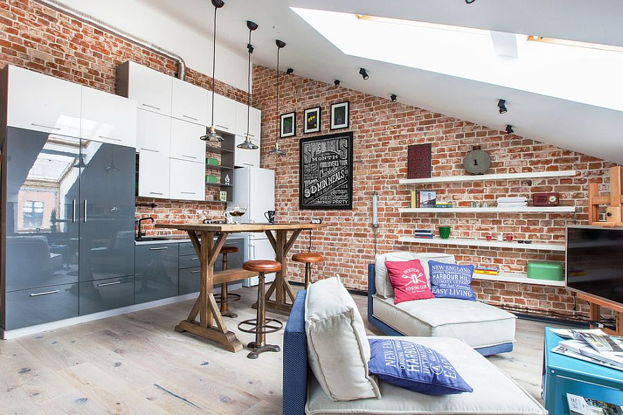 Small loft apartment in Danilovskaya Manufactory, Moscow