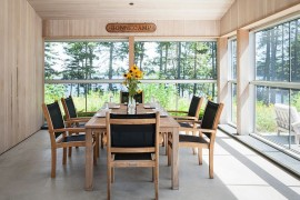 Small sunroom with dining table and chairs [Design: Elliott + Elliott Architecture]  50 Bright and Beautiful Contemporary Sunrooms Small sunroom with dining table and chairs 270x180