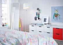 Smart 8 drawer dresser for the trendy teen bedroom from IKEA