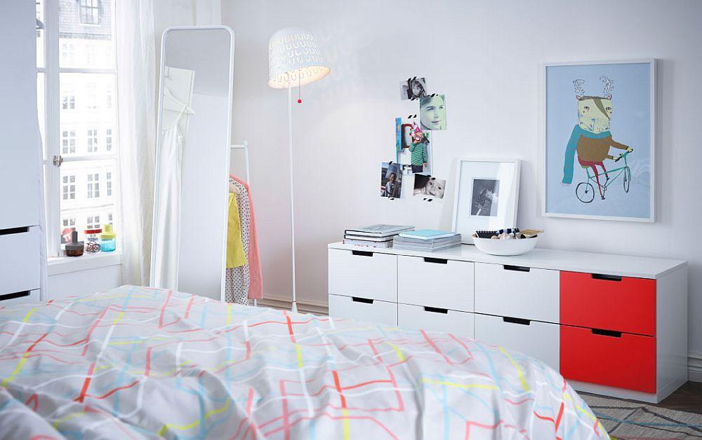 Ikea Bedroom Leirvik Hemnes Is Creative Inspiration For Us: Smart 8 Drawer Dresser For The Trendy Teen Bedroom From