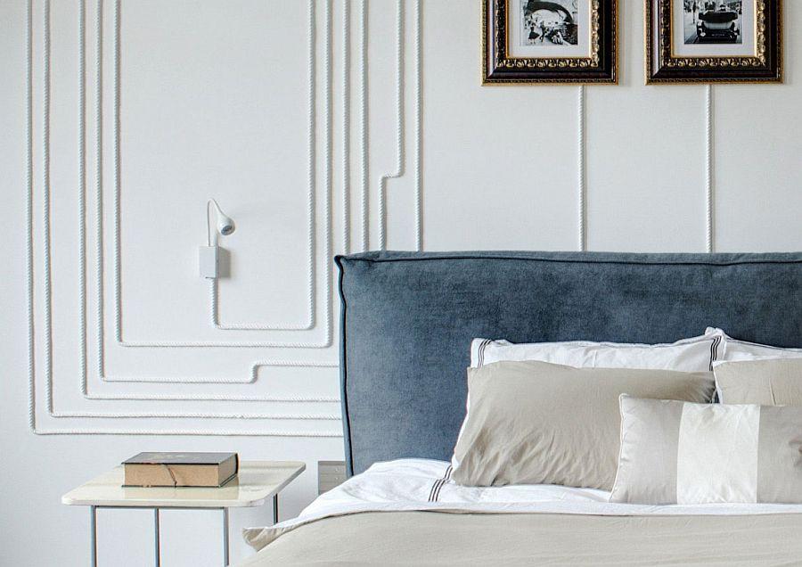 Smart bedside lighting coupled with elegant wall art